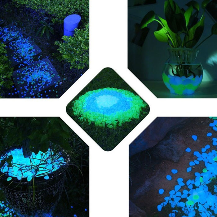 Cobblestone Shape Shining Nightlight Stone for Aquarium Construction