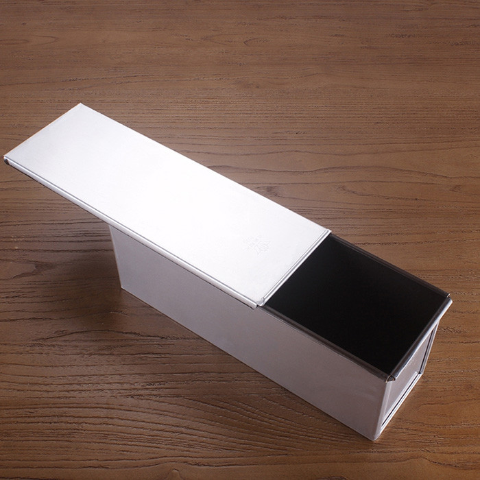 Aluminum Alloy With Lid Toast Box Rectangular Non-clay Cabinet Box Bread Mold Cake Mold Baking Tools