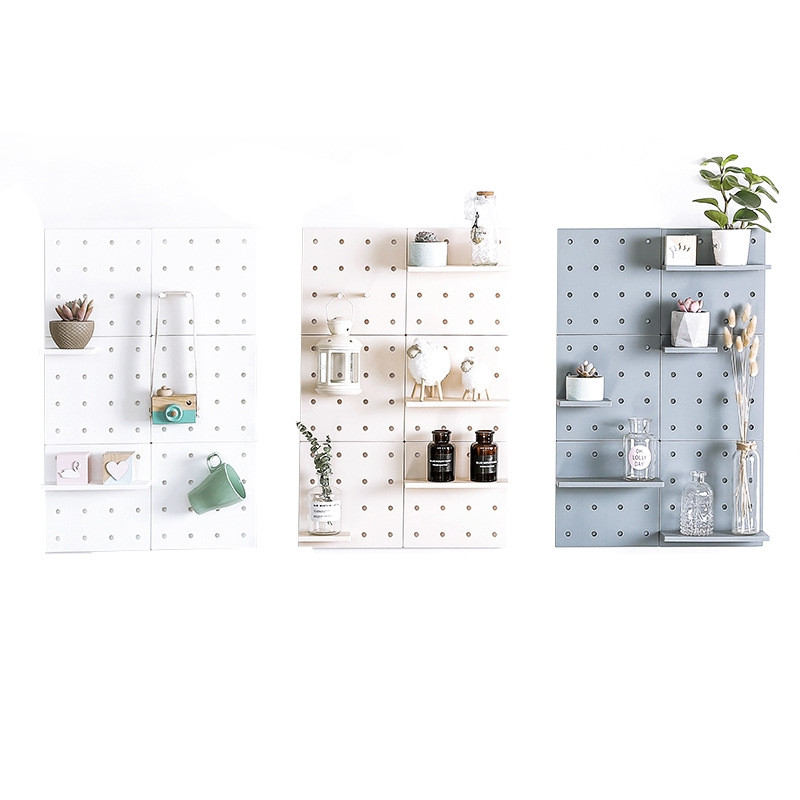 Floating Wall Plastic Hole Plate Storage Partition Hanging Shelf