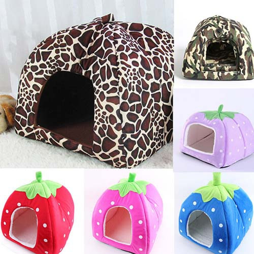 Cute Comfortable Strawberry Dog Kennel