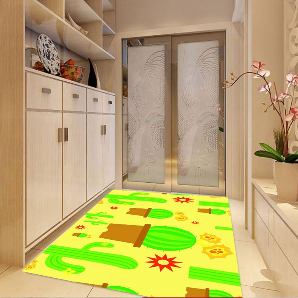 1 Pc Mat Antislip  Simple  Pattern  Cozy  Bedroom Home Decoration