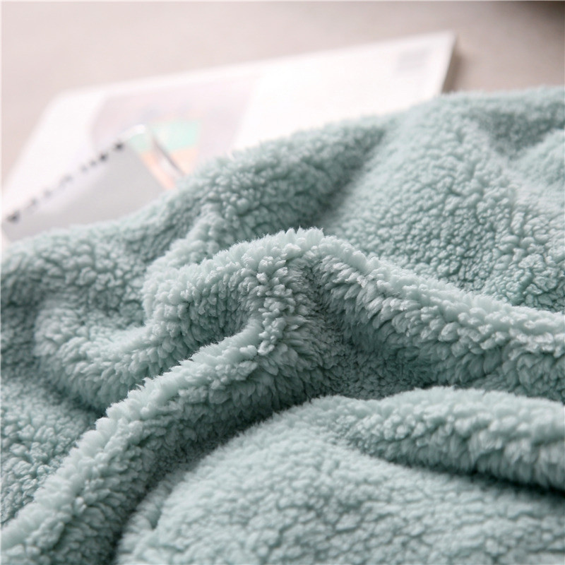 MCL Thick Flannel Lamb Cashmere Blanket Shawl Office Travel Home Lazy Blanket
