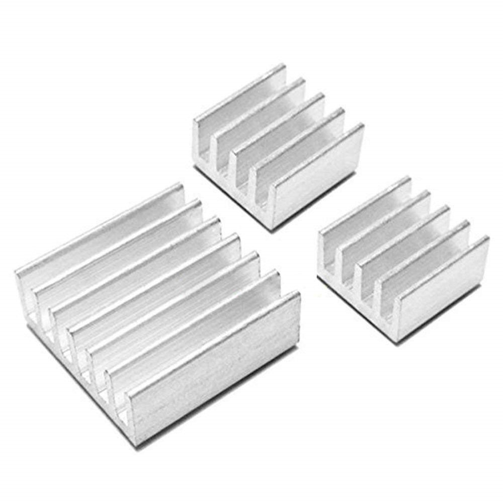 3pcs Aluminum Heatsink Radiator Cooler Cooling Kit for Raspberry Pi