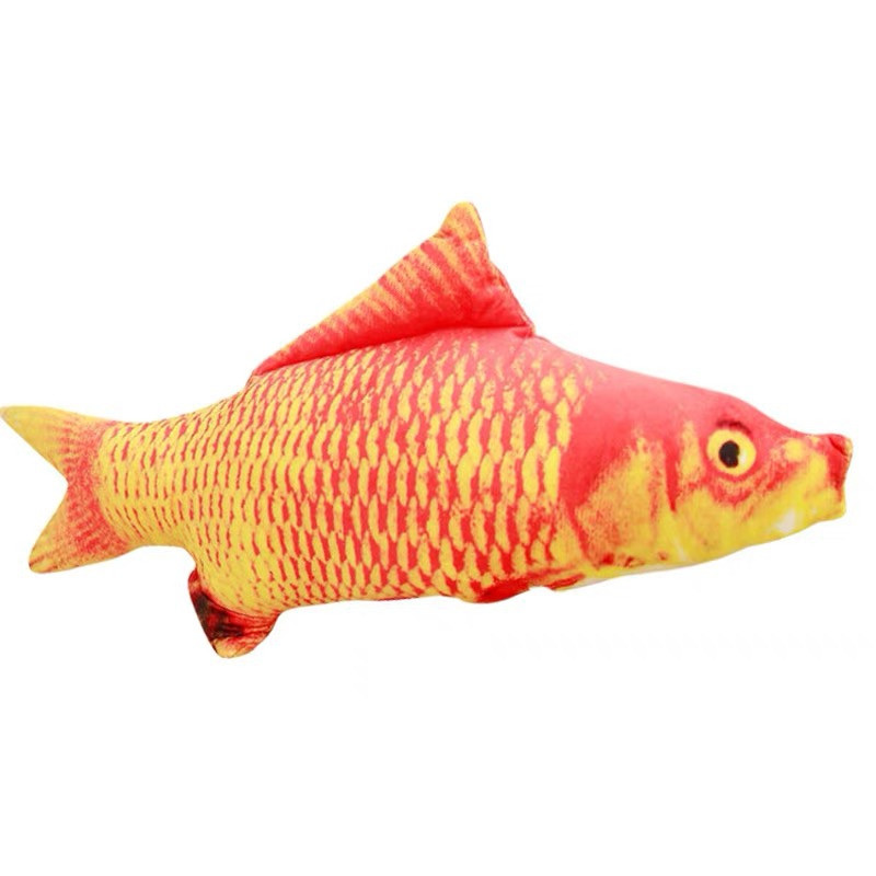 Fish Catnip Toys Cat Toys Simulation Plush Fish Shape Toy Doll Interactive Pets
