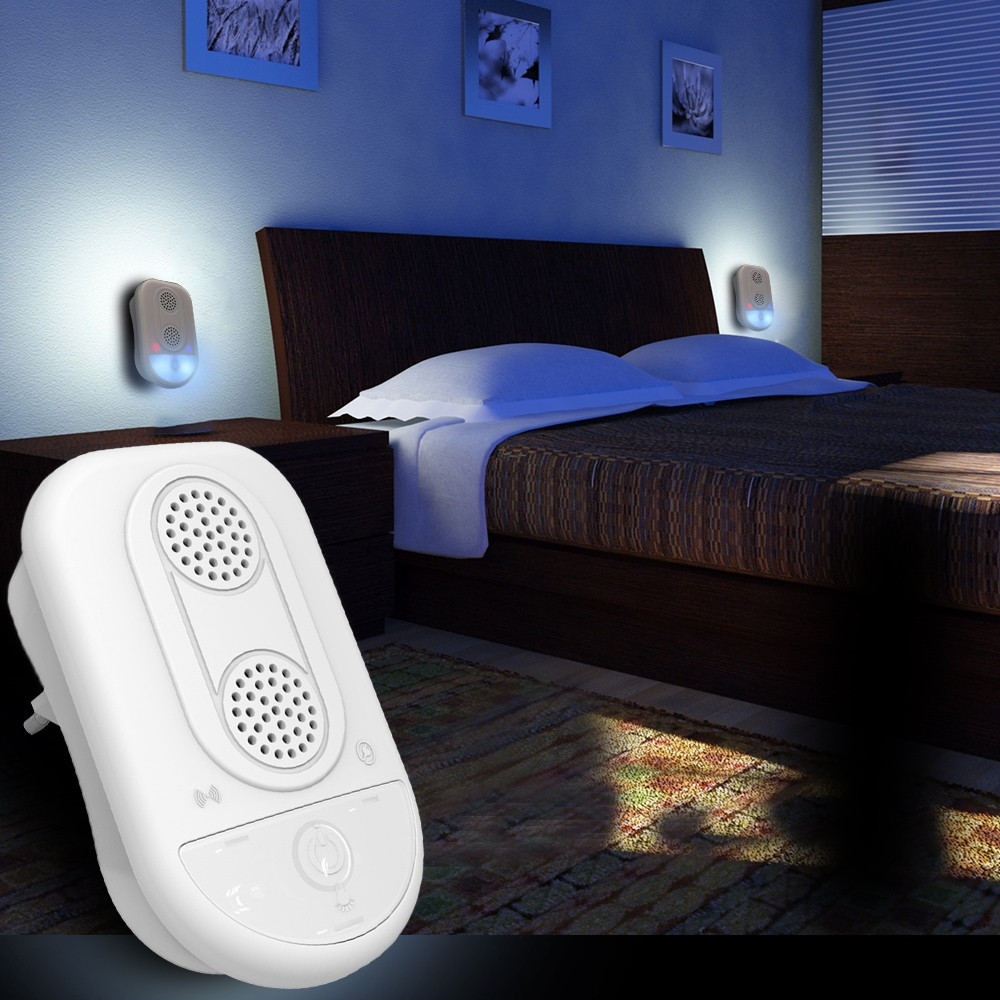 Household Indoor Electronic Ultrasonic Repeller with Night Light