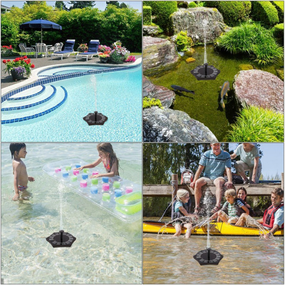 Starfish Case Solar Fountain Water Floating Garden Pond Gardening Decoration