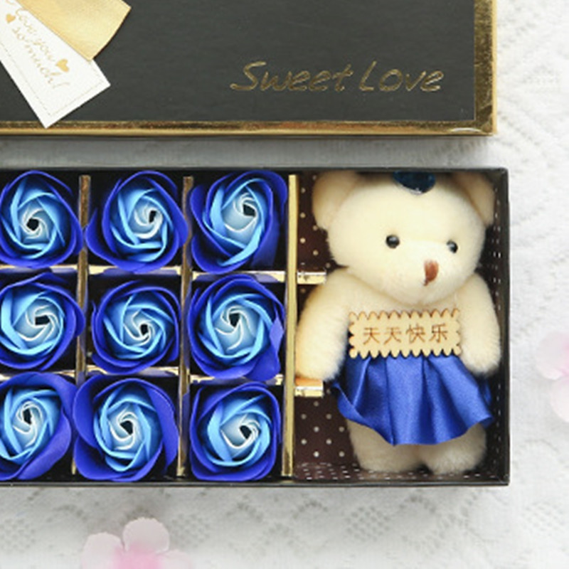 12 Eternal Soap Flower Roses Gift Box Valentine'S Day Gift