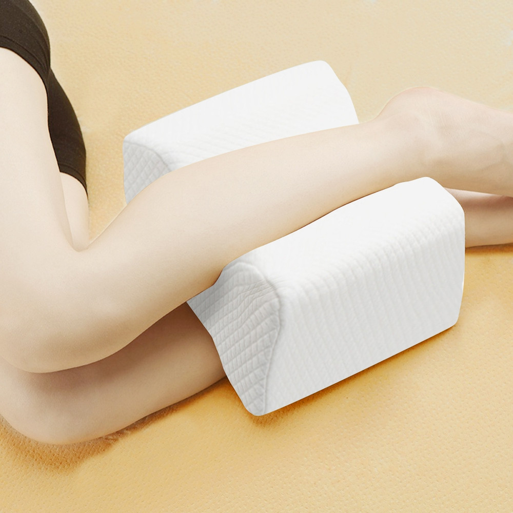 Orthopedic Memory Foam Knee Wedge Pillow for Sleeping Sciatica Back Hip Joint Pain Relief