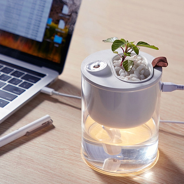 Creative Ecological Home Mini Bedroom Desktop Potted Mute USB Small Humidifier