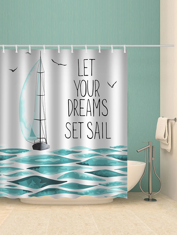 Dream Sailboat Print Shower Curtain