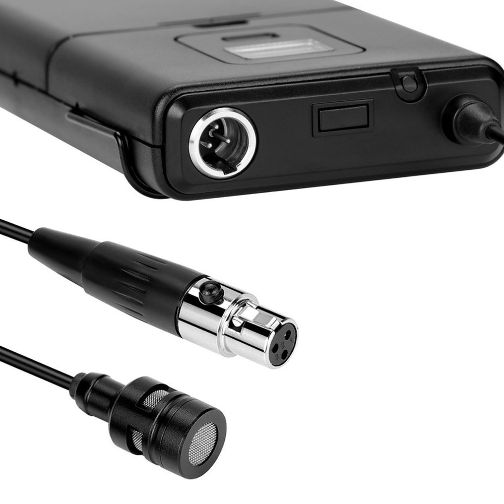FIFINE K037 U-segment Wireless Microphone Lapel Clip Mic Voice Amplifier