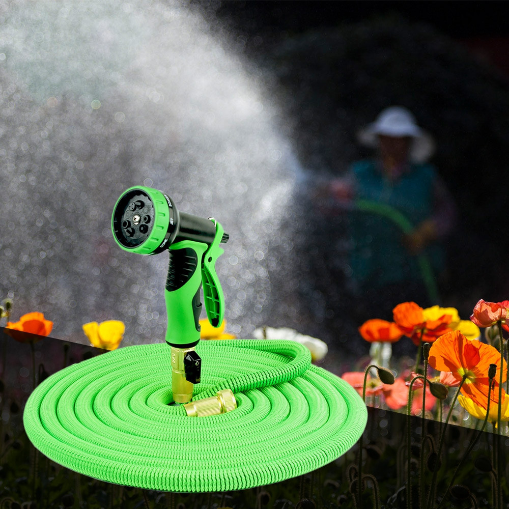 Expandable Pipe Flexible Garden Watering Hose for Gardening Vehicle Washing with Spray Gun