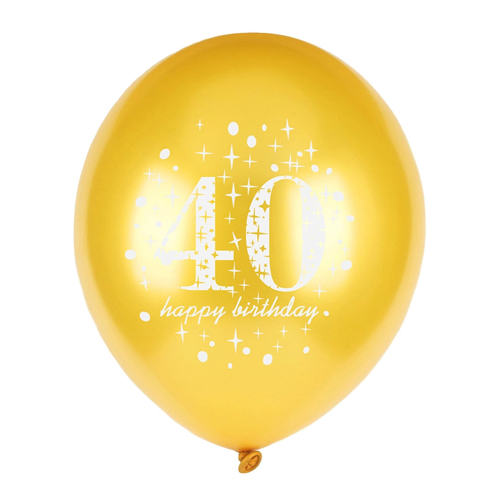 12 inch 15pcs Confetti Latex Balloon for 16th 18th 30th 40th 50th Birthday Party
