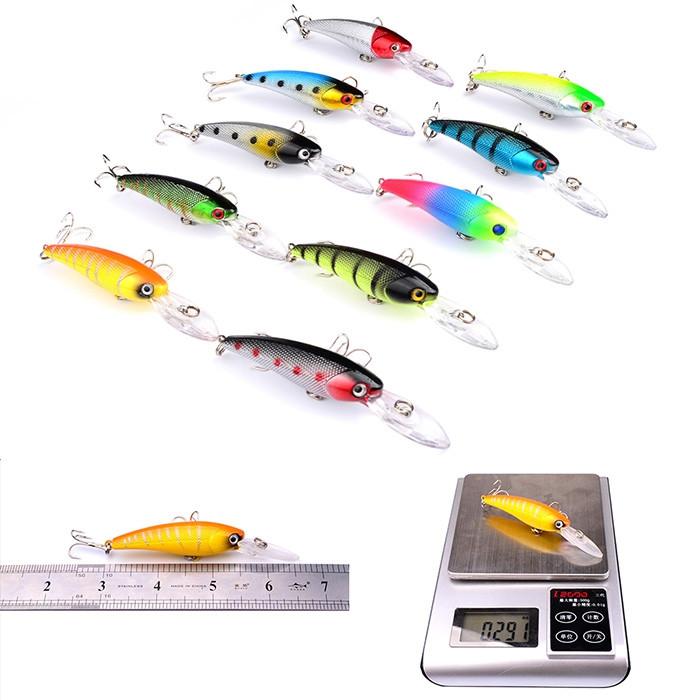 Pro Beros DWS251 ABS Plastic Classic Fishing Lures Minnow Hard Bait 20pcs Set