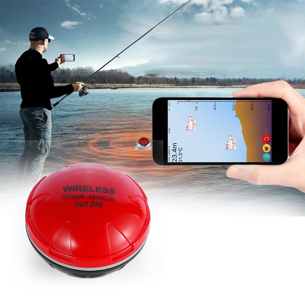 Outlife Portable Wireless Sonar Sensor Fish Finder