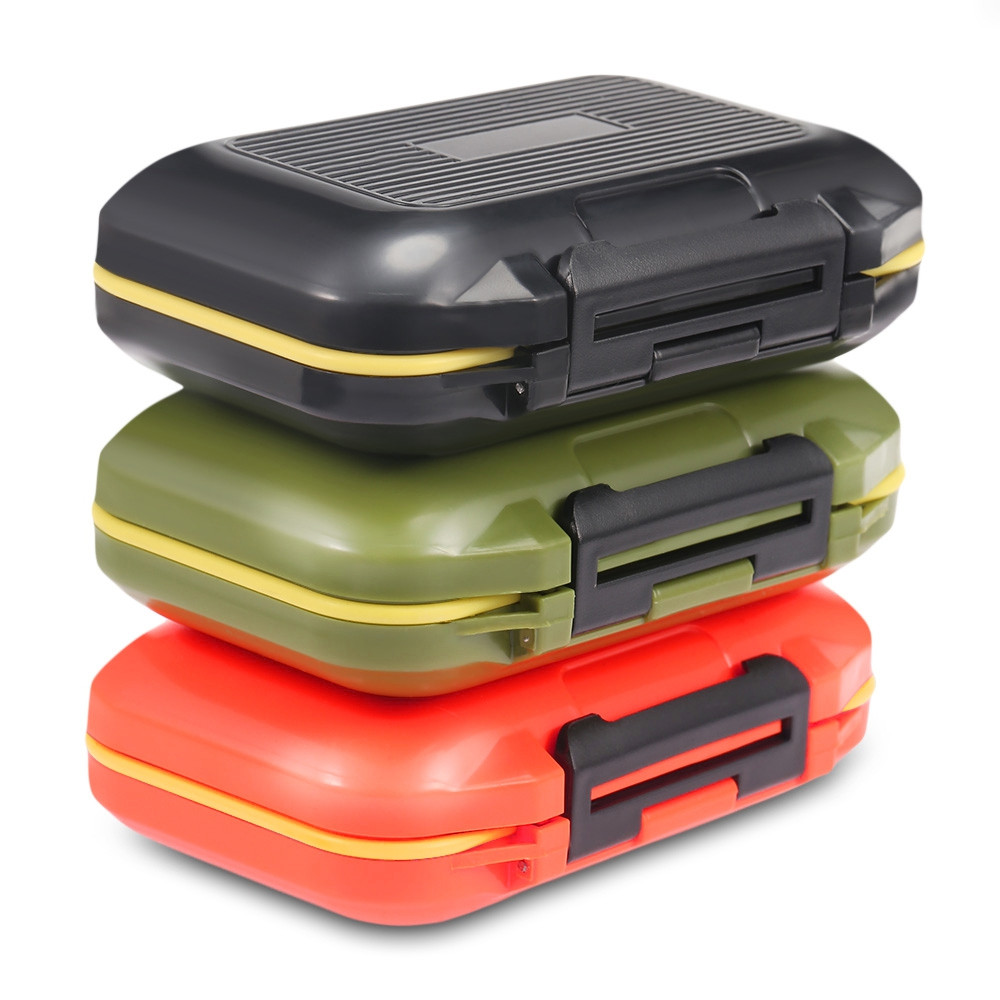 12 Compartments Waterproof Fishing Tackle Storage Box Plastic Fish Lure Bag