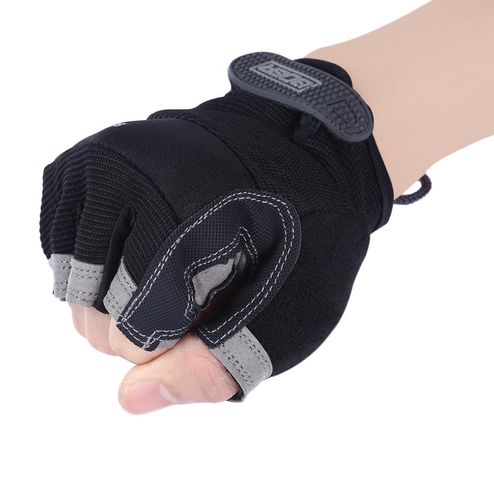 BOER Paired Fitness Sport Gym Exercise Weightlifting Men Half Finger Gloves