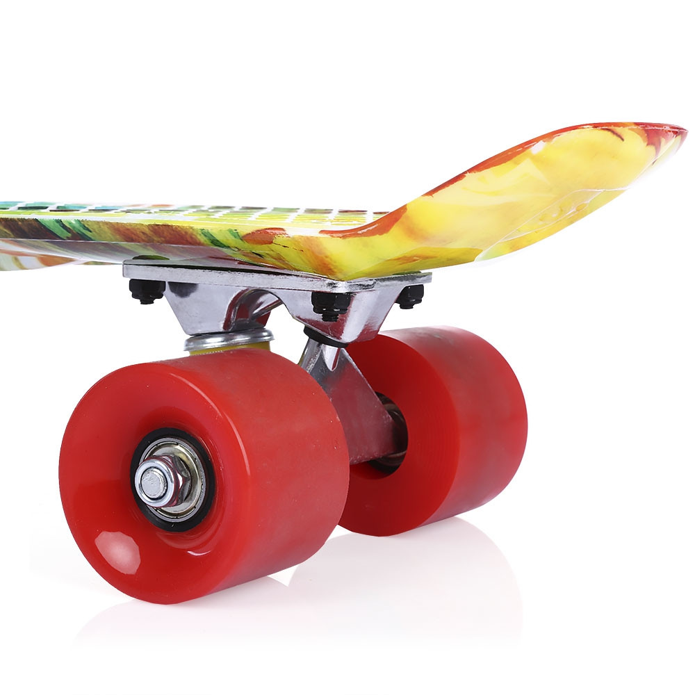 22 inch Printing Pattern Four-wheel Street Long Fish Skateboard