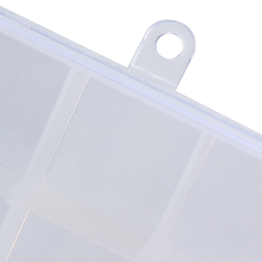 Transparent Plastic Detachable 15 Slots Storage Box Case For Nail Art Tips Gems Jewelry Beads