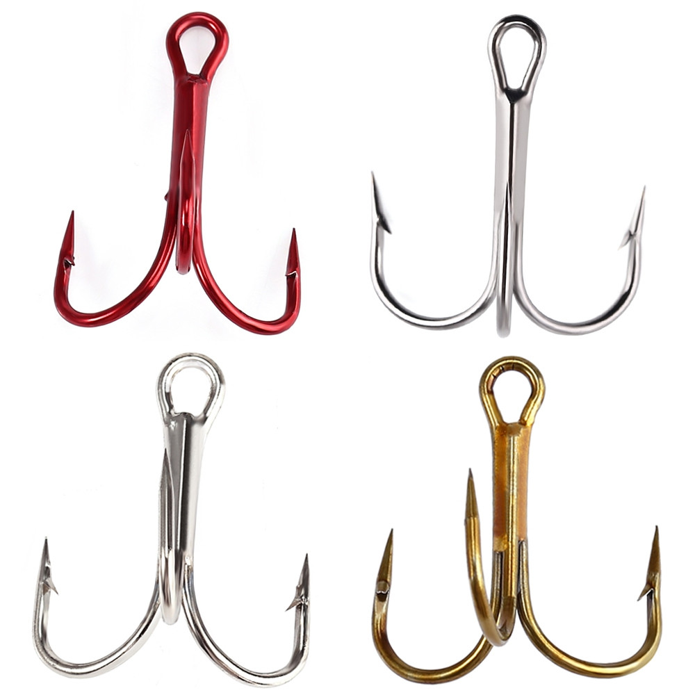 100 Pcs Lures Fishing Treble Hooks