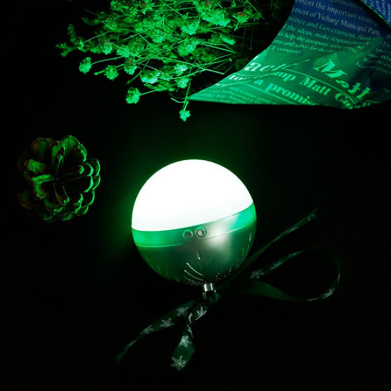 Colorful Portable LED Light Bluetooth Speaker Christmas Ball Soundbox