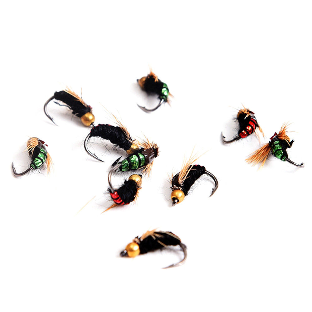 Outlife 40pcs / Box Bionic Insect Fly Shape Fishhook