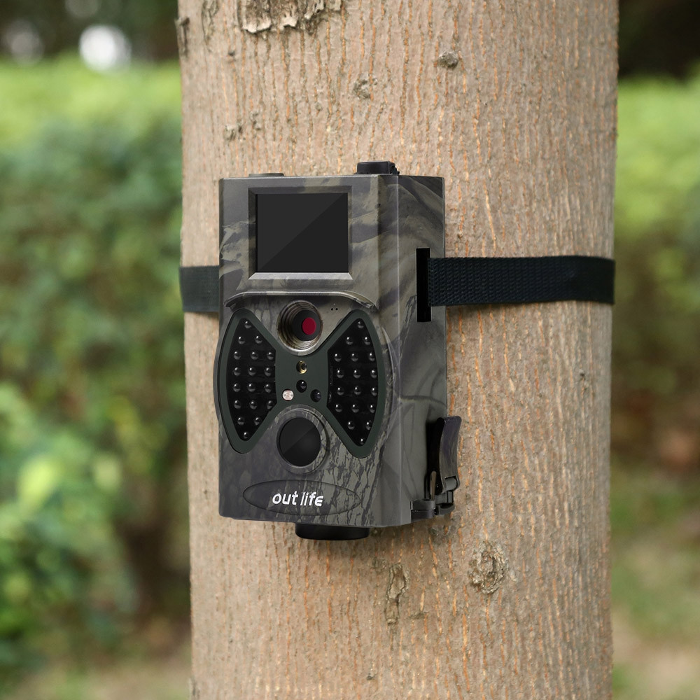 Outlife HC - 300A HD 1080P 12 MP Trail Camera Video Scouting Infrared Night Vision IR LEDs