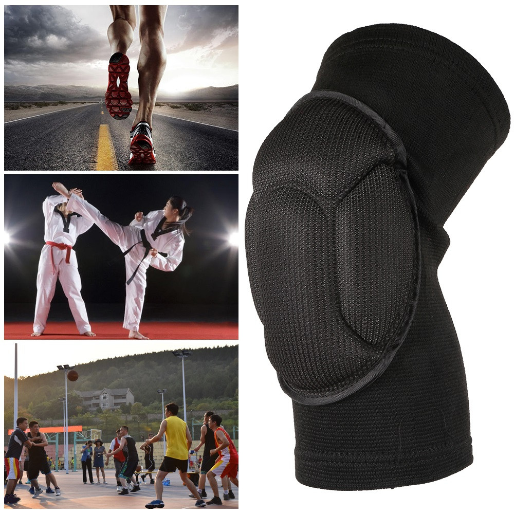 Pair of Sponge Knee Pads Sports Dancing Kneecaps