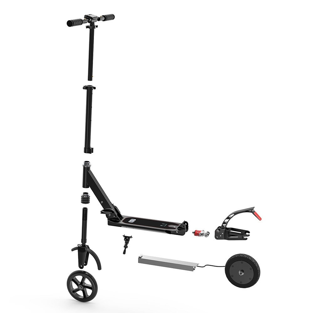 Tough Aluminum Alloy 2600mAh Folding Electric Scooter with Dual 8 inch Tire