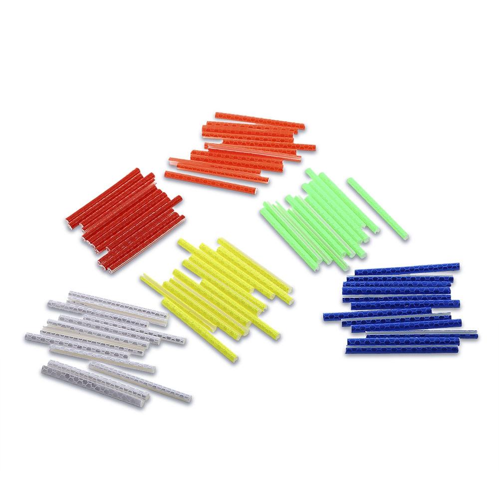 12pcs Bike Wheel Spoke Reflective Strip Steel Wire Sticker