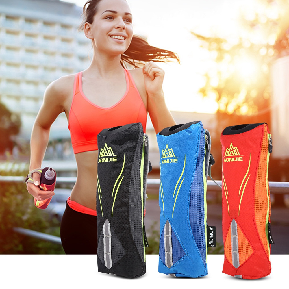 AONIJIE Outdoor 500ML Running Handheld Water Bottle Bag