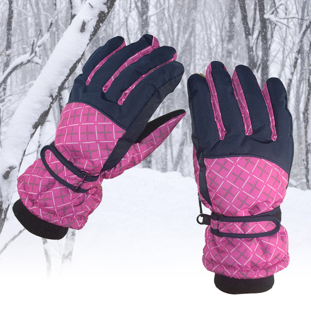 Winter Outdoor Riding Skiing Windproof Fleece Warm Gloves