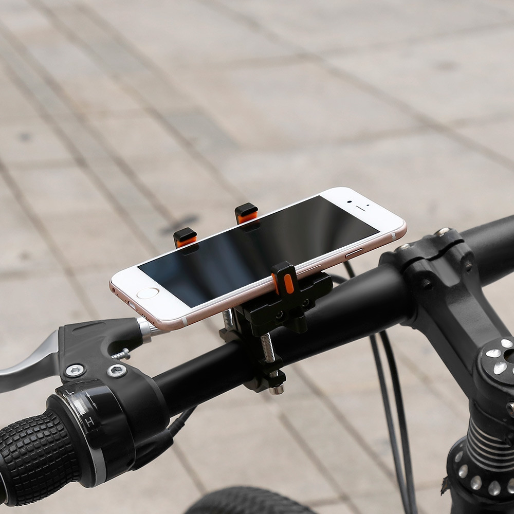 360 Degree Rotation Aluminum Alloy Bicycle Holder Bracket for Mobile Phones
