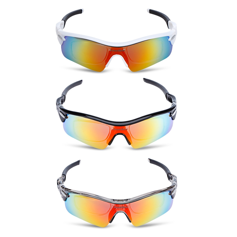 FreeBee Windproof Cycling Sunglasses Bike Goggles Set