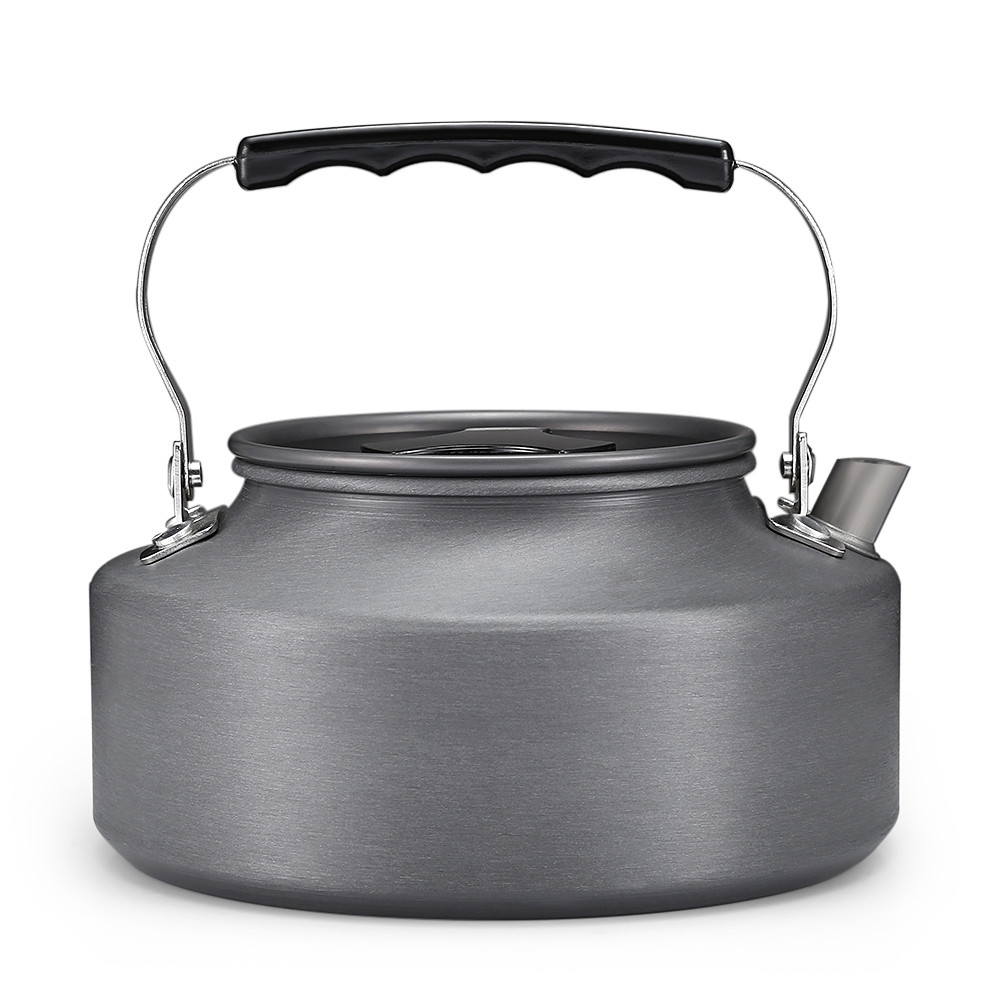 1.1L Outdoor Camping Portable Coffee Tea Kettle Aluminum Tableware