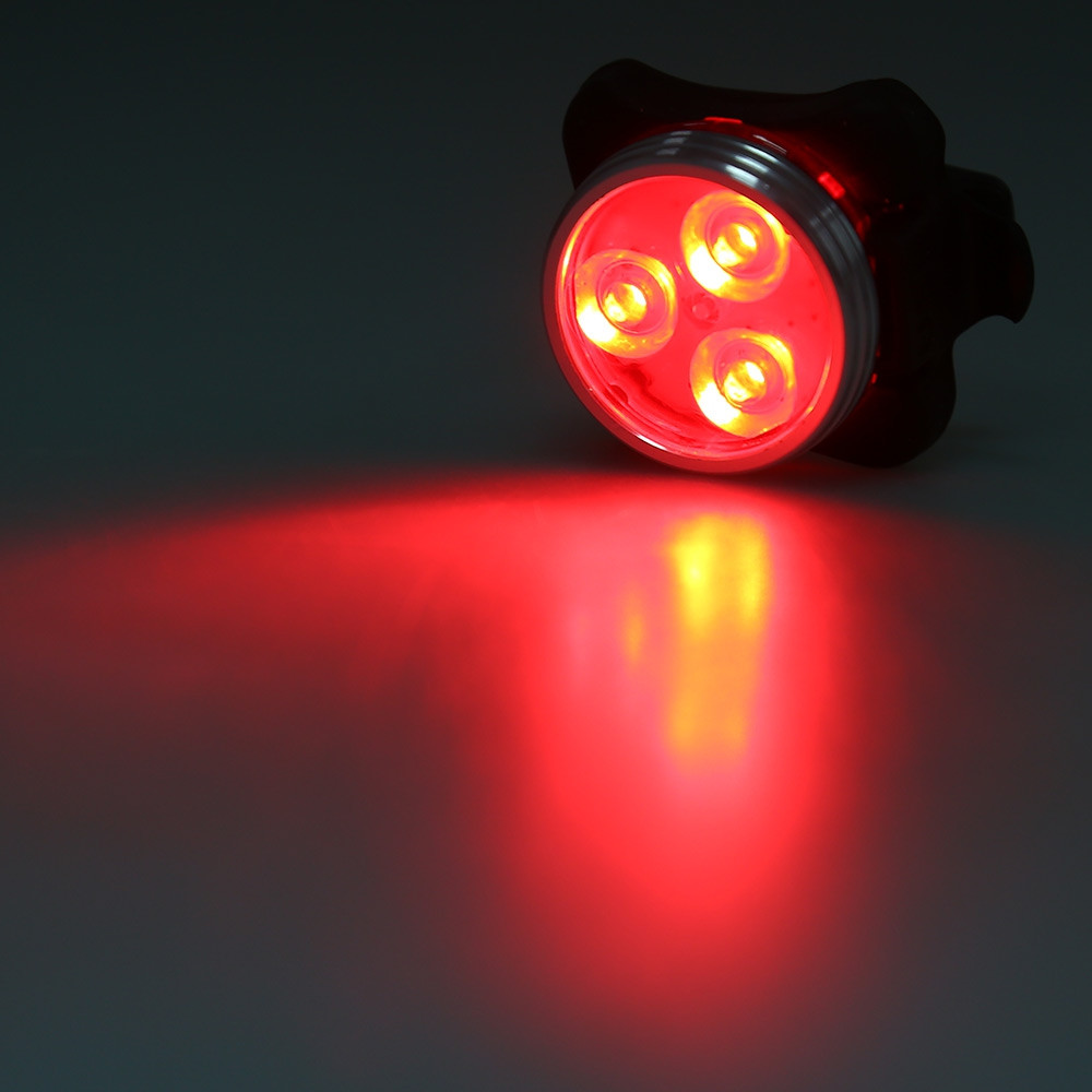 3 LED USB Rechargeable Bike Tail Light  Caution Lamp Night Torch