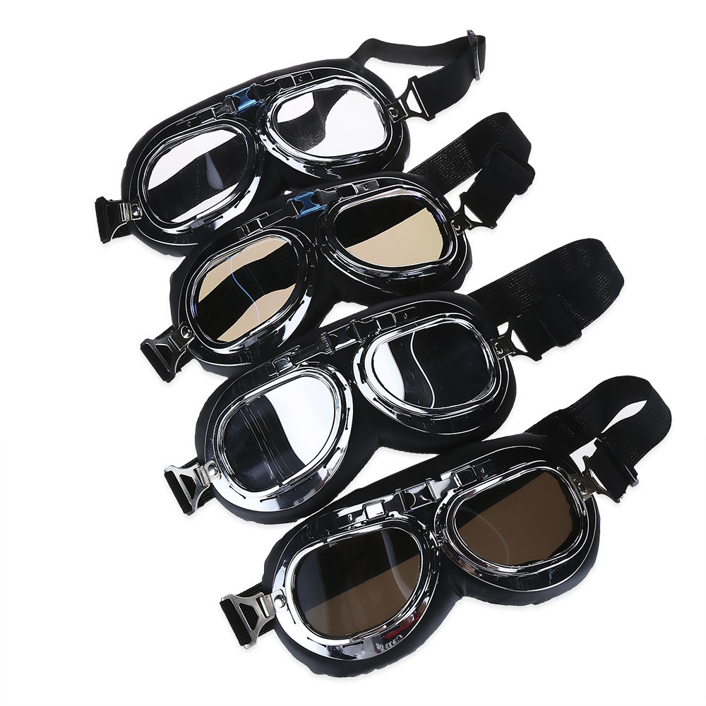 Motorcycle Unisex Riding Scratch Resistant Dust-proof Windproof Goggles Glasses