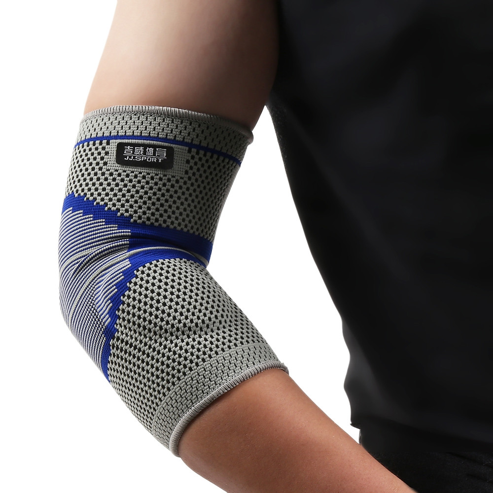 JJ Fitness Elbow Brace Compression Support Sleeve for Basketball Tennis Golf