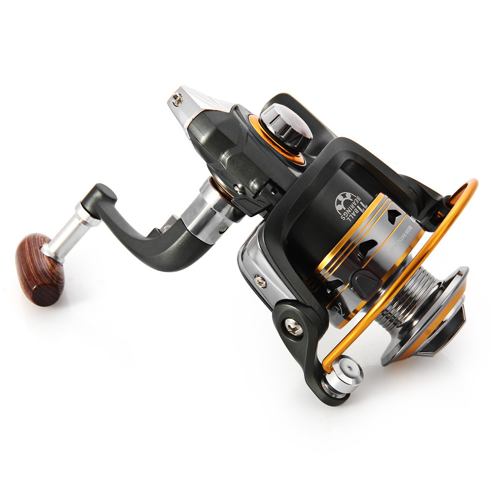 DK - 1000 Metal Spool Spinning Fishing Reel Carretilha Pesca Wheel 11-Ball Bearing 5.2 : 1