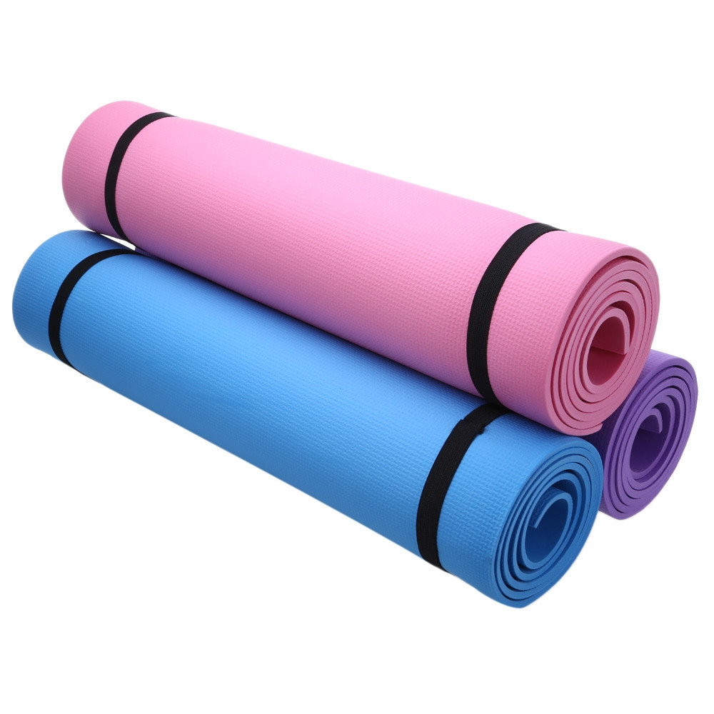 Yoga Mat Exercise Pad 6MM Thick Non-slip Gym Fitness Supplies