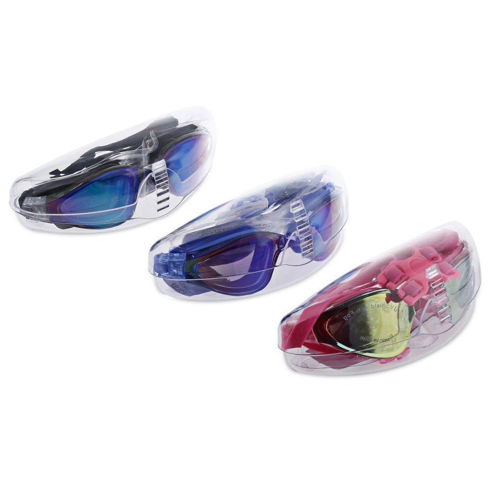 MYSTYLE AF - 1800MS Water Resistant Anti-fog Electroplate Eyewear Glasses Swimming Goggle