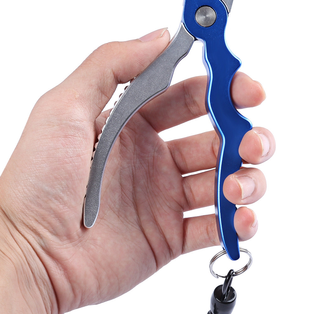 Aluminum Alloy Arc-shaped Hand Shank Line Cutter Hook Remove Fishing Pliers