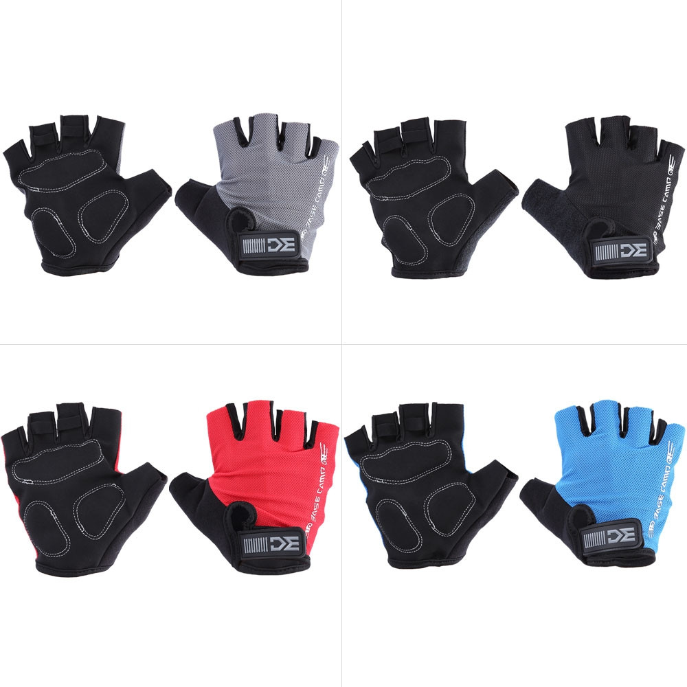 BaseCamp Shock-absorbing Foam Pad Half Finger Bike Gloves