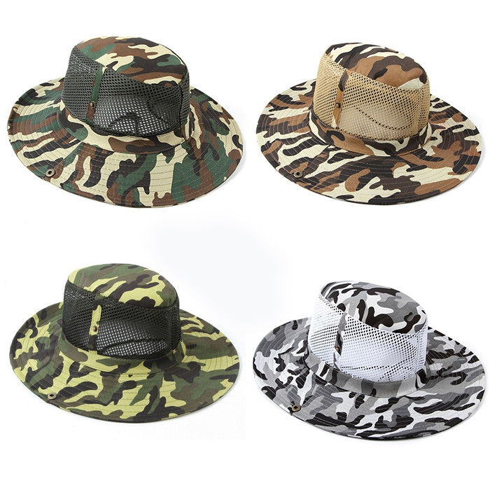 AOTU Camouflage Color Outdoor Camping Mesh Boonie Hat