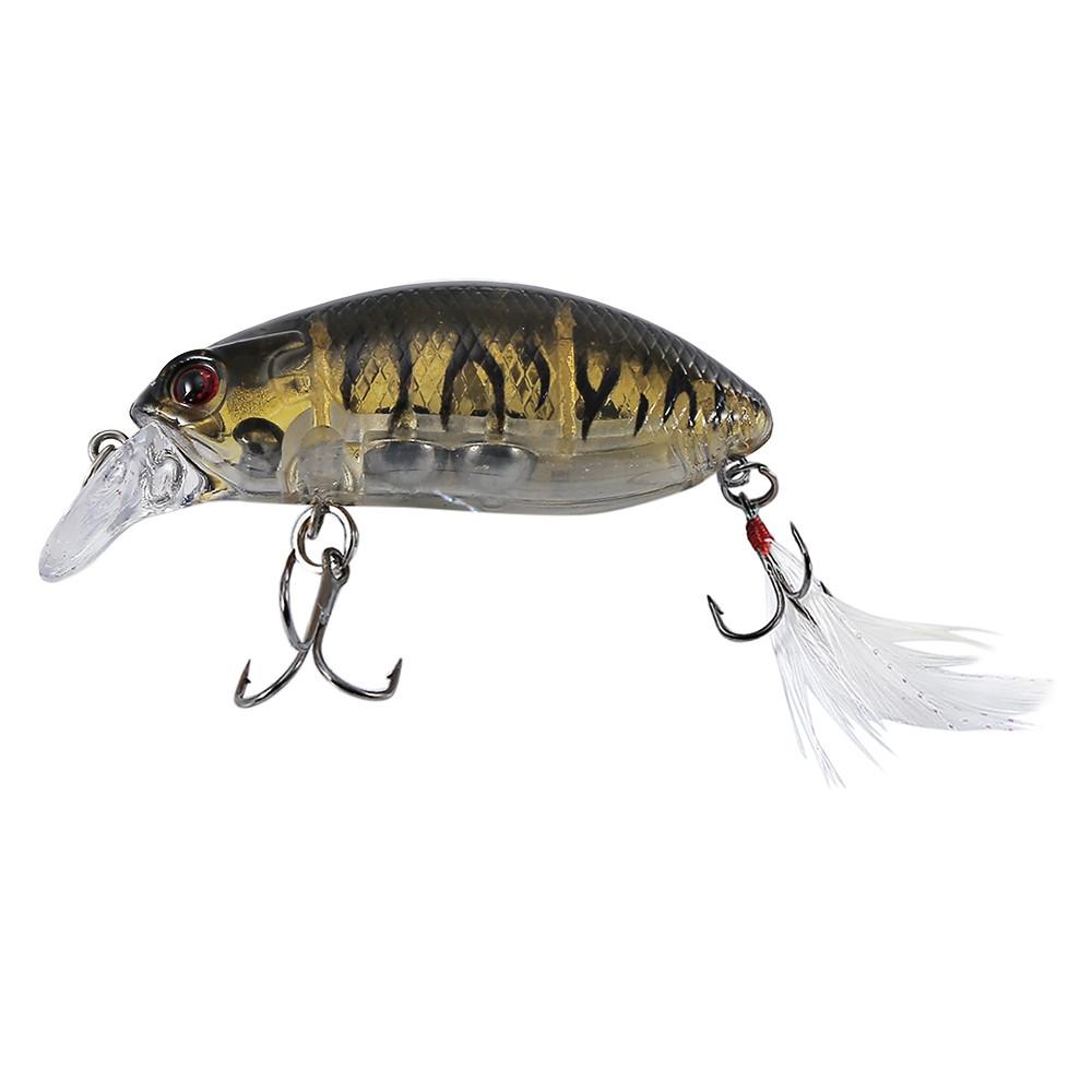 HENGJIA 10pcs 10 Colors Fishing Tackle Hook Crankbait Lure Bait