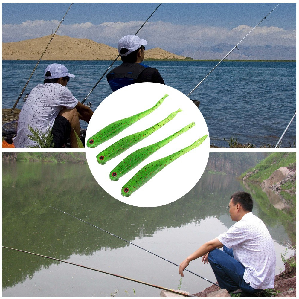 A FISH LURE Soft Fishing Lures Artificial Bait 4pcs