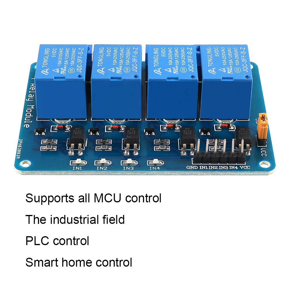 4 Channel DC 5V Relay Module for Arduino R3 MEGA 2560 1280 DSP ARM PIC AVR