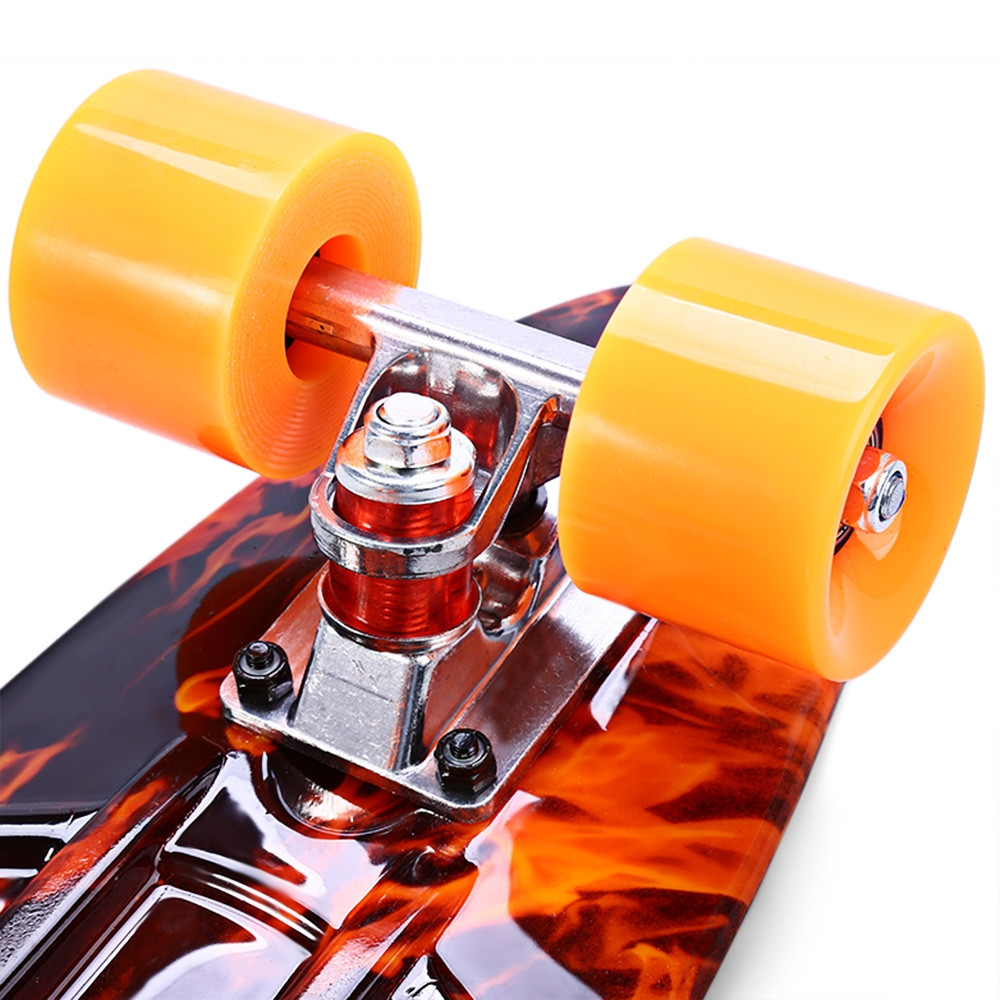CL - 78 22 inch Hellfire Pattern Retro Skateboard Longboard Mini Cruiser