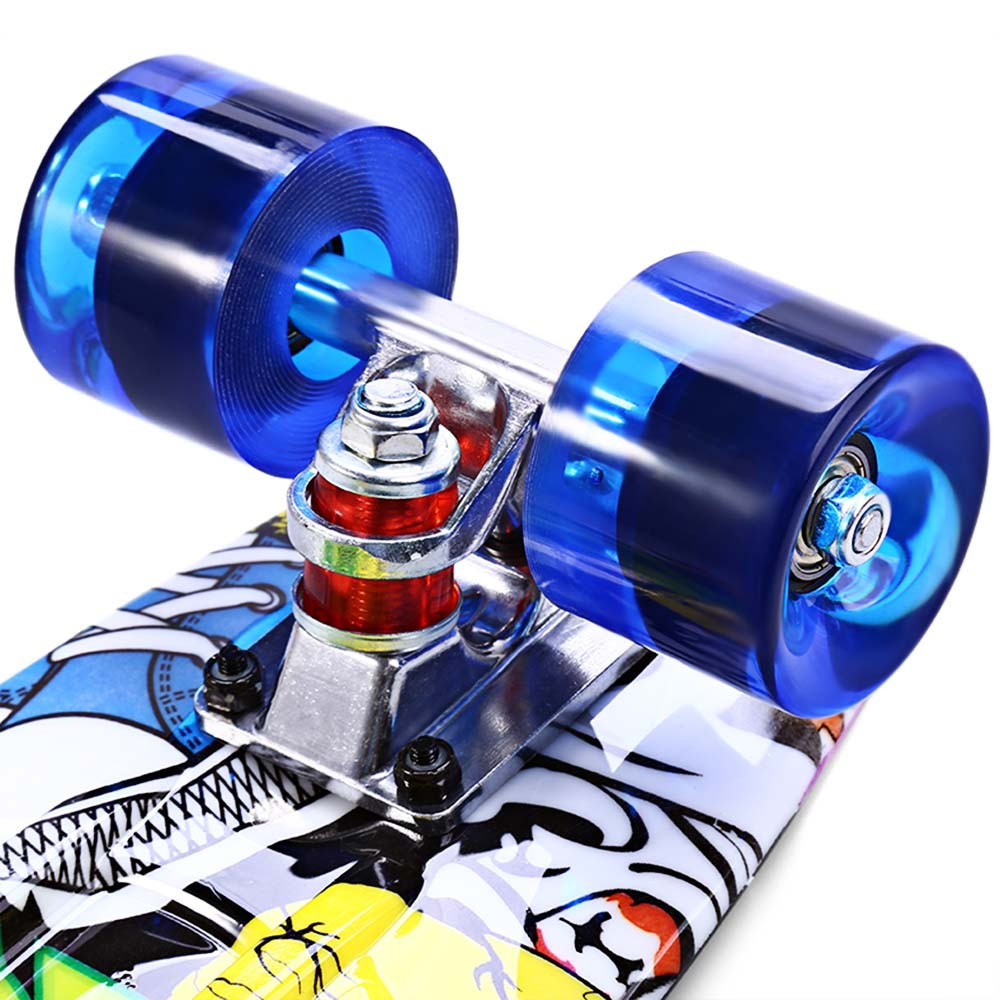 CL - 85 22 inch Graffiti Hip-hop Skull Retro Skateboard Longboard Mini Cruiser CL - 85