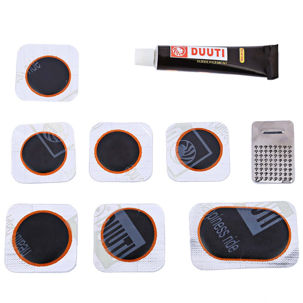 DUUTI Bicycle Folding Tire Repair Multifunctional Kit Set with Portable Repair Tools Bag